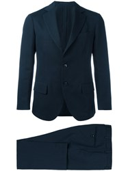 Massimo Piombo Mp Unconstructed Single Breasted Two Piece Suit Men Cotton Linen Flax Viscose 54 Blue