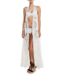 Milly Katrina Crochet Lace Maxi Coverup White