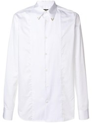 Roberto Cavalli Pleated Front Shirt White