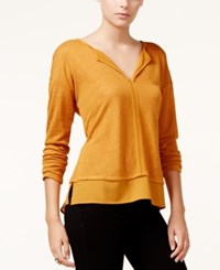 Sanctuary Long Sleeve Layered Top Spice