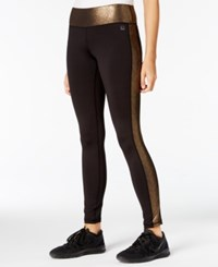 Material Girl Active Juniors' Metallic Leggings Only At Macy's Black