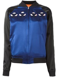 Opening Ceremony Reversible Bomber Jacket Blue