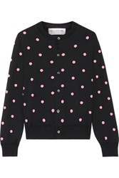 Comme Des Garcons Girl Intarsia Wool Blend Cardigan Black