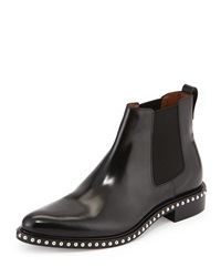 Givenchy Stud Sole Leather Chelsea Boot Black