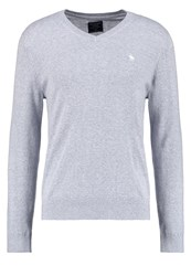 Abercrombie And Fitch Jumper Grey Mottled Grey