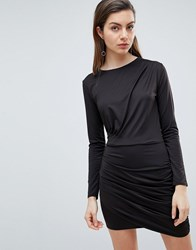 Ivyrevel Long Sleeved Jersey Dress With Ruched Detail Black