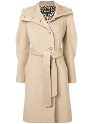 Just Cavalli Belted Midi Coat Nude And Neutrals