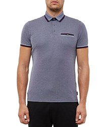 Ted Baker Regular Fit Oxford Polo Navy