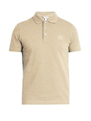Loewe Logo Embroidered Polo Shirt Beige
