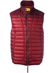 Parajumpers Sleeveless Padded Coat Red