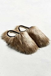 Urban Outfitters Uo Faux Fur Mule Slipper Oyster