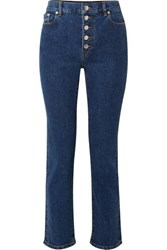 Joseph Den High Rise Slim Leg Jeans Blue