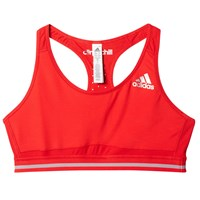 Adidas Techfit Climachill Weightlifting Sports Bra Red