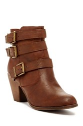 Elegant Footwear Finny Heeled Bootie Brown