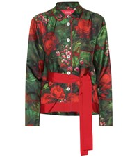 F.R.S For Restless Sleepers Agon Printed Silk Shirt Green
