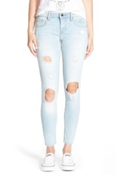 Vigoss Destroyed Skinny Jeans Juniors Blue