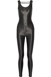 Koral Jet Cutout Metallic Stretch Jumpsuit Gunmetal