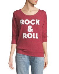 Chaser Rock And Roll Open Back Terry Sweatshirt Red