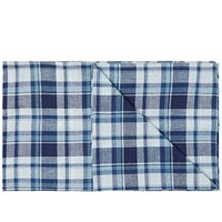 The Hill Side Indigo Madras Large Check Scarf Blue