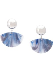 Rachel Comey Maxi Clip On Earrings Blue