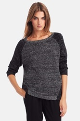 Kenneth Cole 'Patten' Metallic Sweater Black