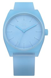Adidas Process Silicone Strap Watch 38Mm Clear Blue