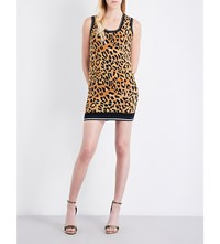 Dsquared Leopard Print Knitted Dress Black Brown