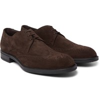 Hugo Boss Suede Derby Shoes Brown