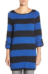 Caslonr Women's Caslon Knit Tunic Navy Black Velma Stripe