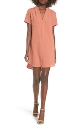 Lush Women's Hailey Crepe Dress Coral Cedar