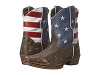 Roper American Flag Shorty Brown Cowboy Boots