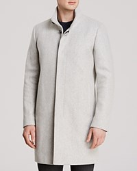 Theory Belvin Vp Voedar Coat Light Grey Heather