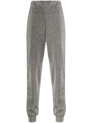 No Ka' Oi Side Stripe Glittered Joggers Silver