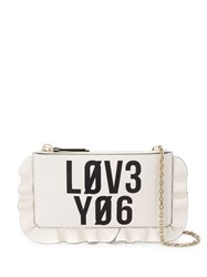 Red Valentino Leather Cross Body Bag White