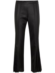 Marco De Vincenzo Cropped Flared Mid Rise Pants Black