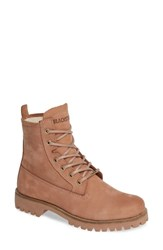 Blackstone Ol22 Lace Up Boot With Genuine Shearling Lining Cafe Au Lait Leather