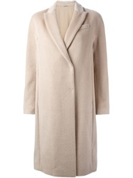 Brunello Cucinelli Camel Fur Double Breasted Coat Nude And Neutrals