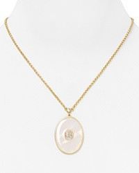 T Tahari Pastel Dream Oval Pendant Necklace 18 White