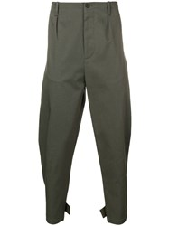 Les Hommes Tapered Trousers Green