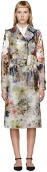 Erdem Multicolor Vinyl Charlotta Trench Coat