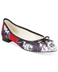 Anne Klein Ovi Pointed Toe Flats Red Floral