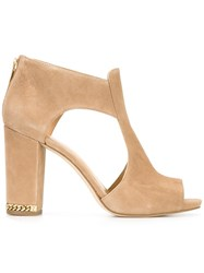 Michael Michael Kors Sabrina Cut Out Sandals Nude Neutrals