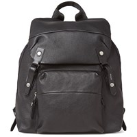 Lanvin Grained Calfskin Backpack Black