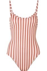 Haight Striped Swimsuit Antique Rose Gbp