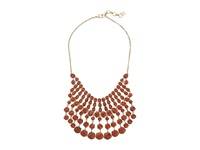 Lucky Brand Red Statement Necklace Gold Necklace