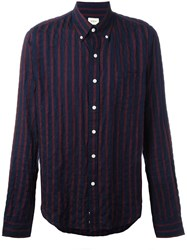Bellerose Striped Button Down Shirt Blue
