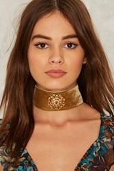 Upper East Velvet Choker Yellow