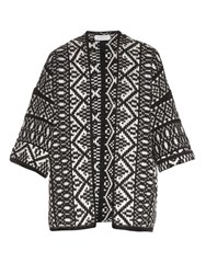 Velvet By Graham And Spencer Yolo Fair Isle Jacquard Cardigan