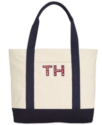 Tommy Hilfiger Small Pam Shopper Natural Navy