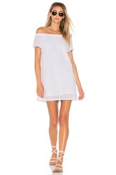 Michael Stars Off The Shoulder Eyelet Dress White